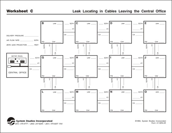 Printables Holes Worksheets leak locating worksheet c sample